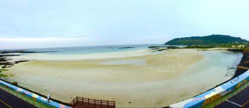 Balcony ocean views on Jeju Island