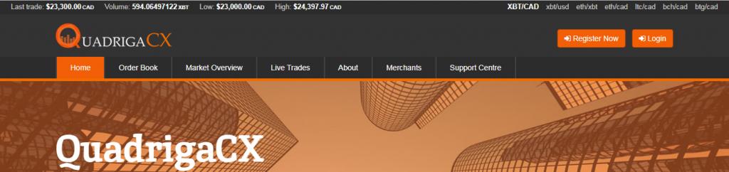 quadrigaCX buy bitcoin