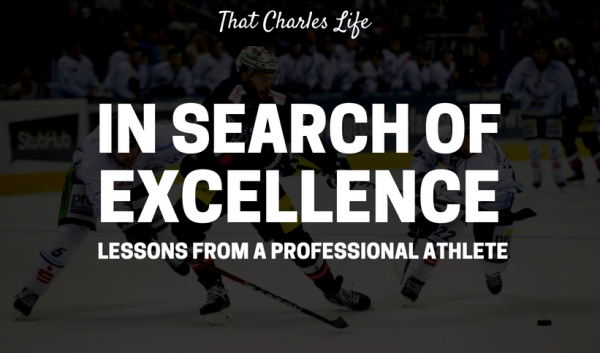 In search of Excellence: Lessons from a professional athlete